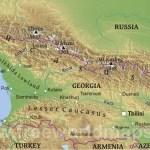 Georgia Physical Map