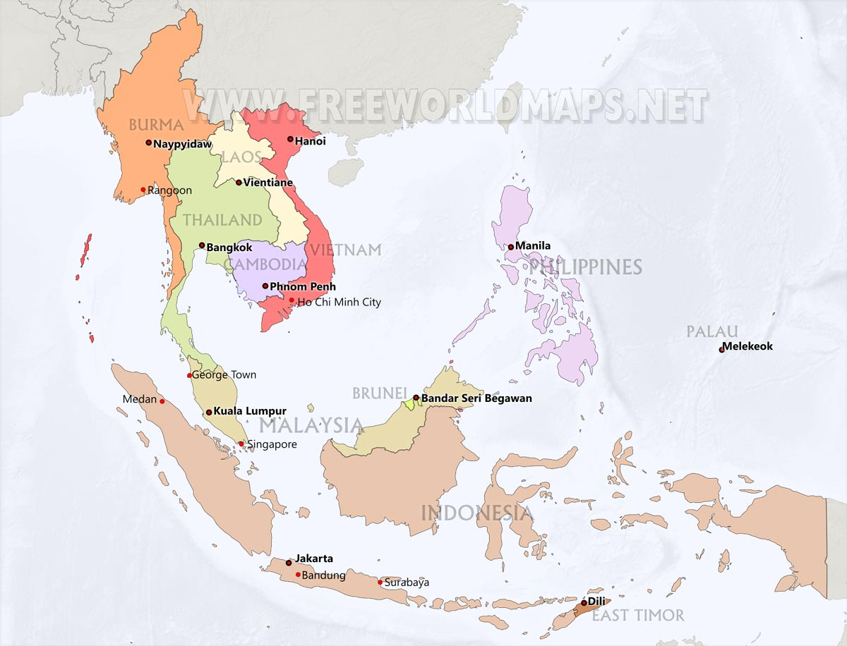Southeast Asia Maps
