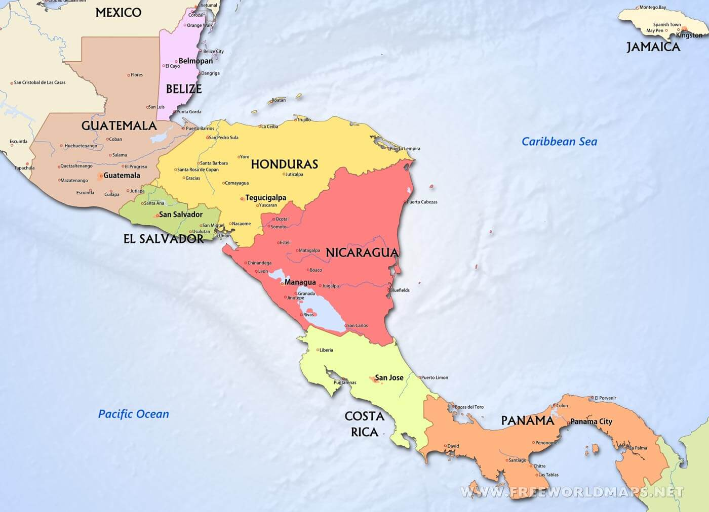 Picture of: Central America Political Map Worksheet Printable Worksheets And Activities For Teachers Parents Tutors And Homeschool Families