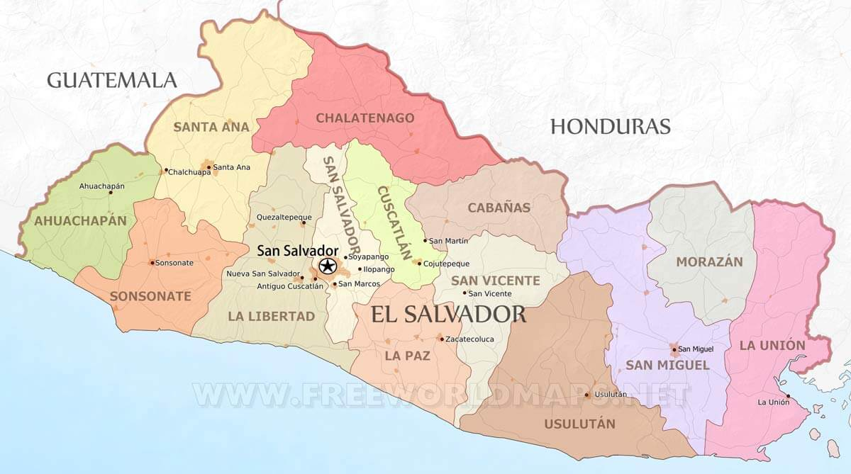 Blank And North Central America Map