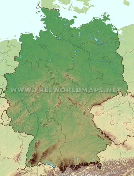 Germany Physical Map     Germany Germany map HD