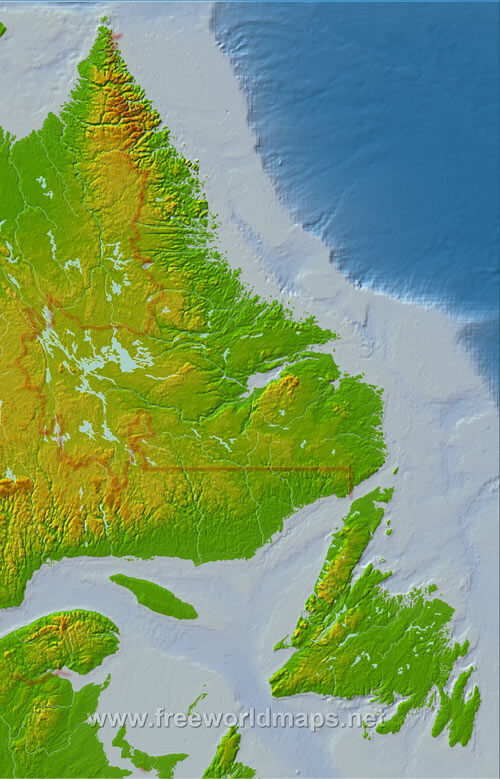 America Map North Mountains Physical