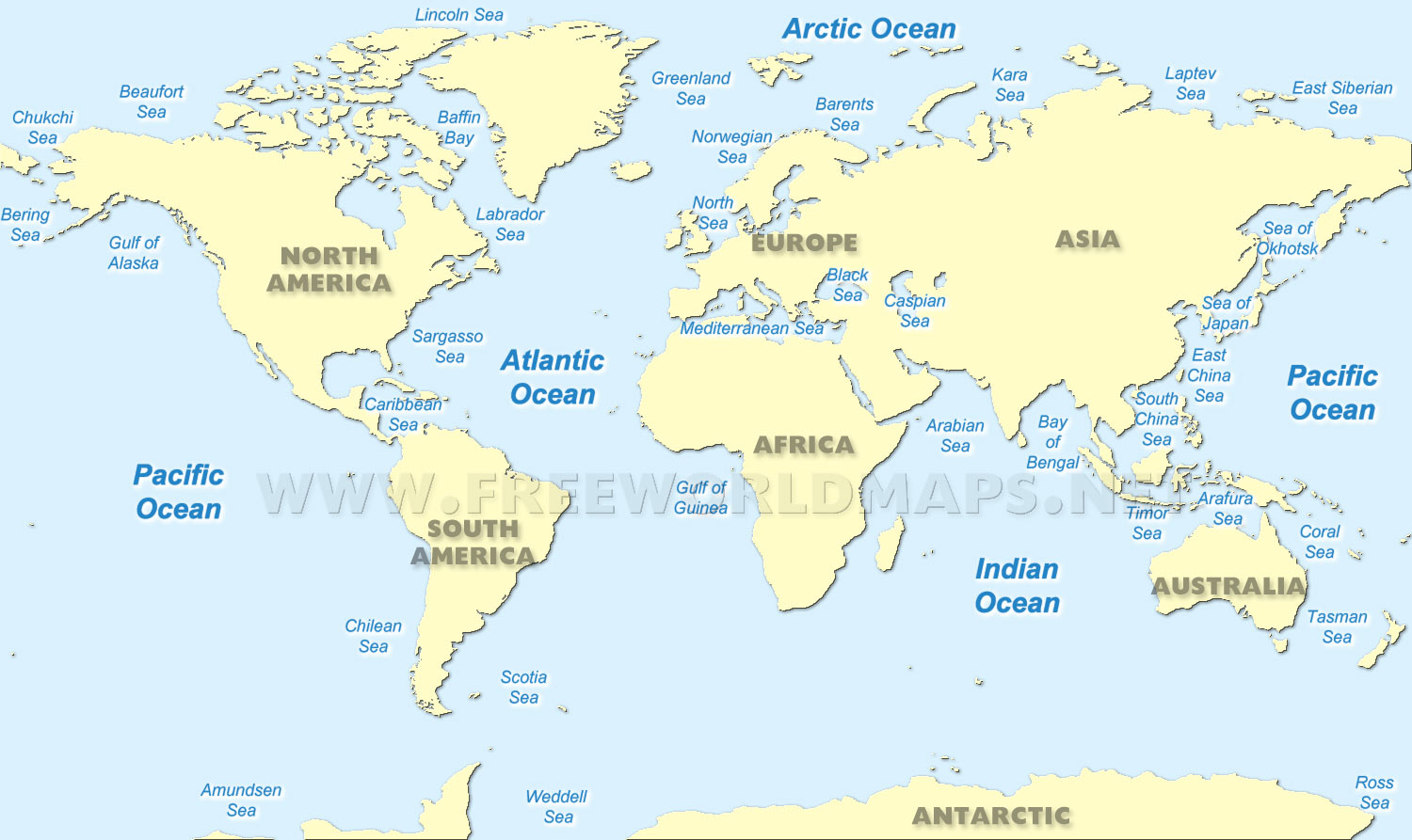 World Ocean Maps