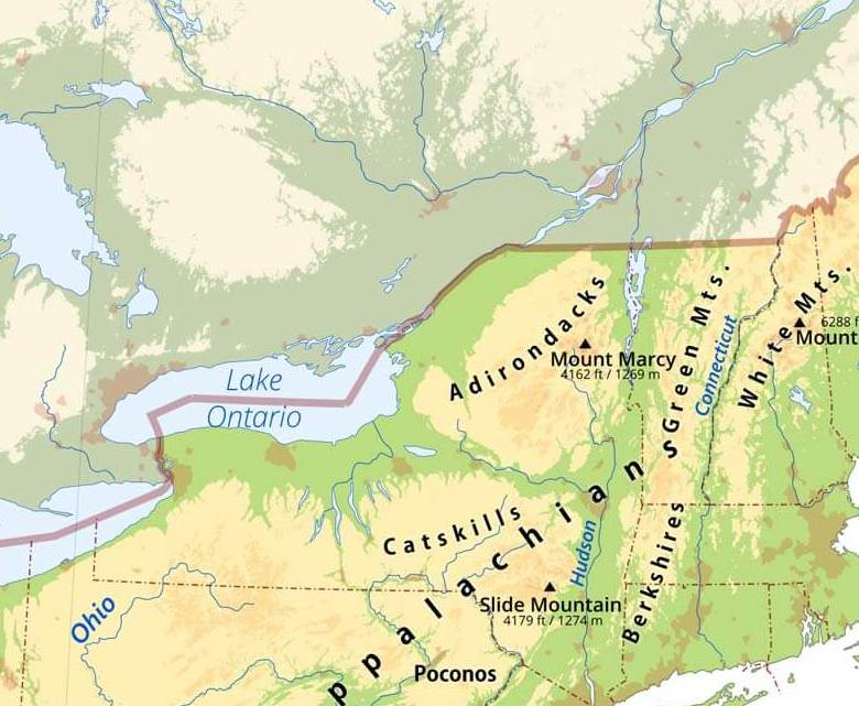 HD Decor Images » Northeastern US Physical Map