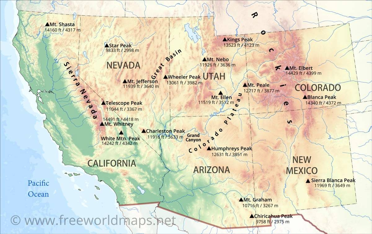 Us Geography The Southwestern Neahcantmo