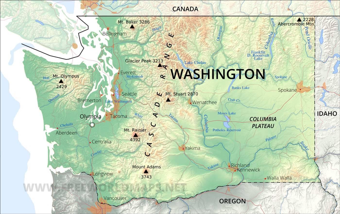 Washington State Rivers Worksheet