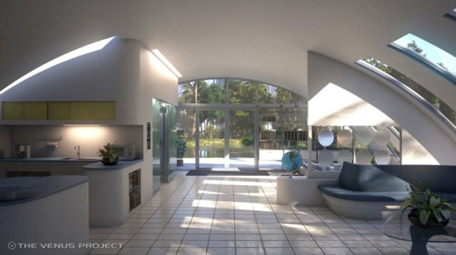 Example potential housing interior near (The Venus Project)