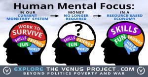 Human Mental Focus - Work to Survive, Skills, Friends, Fun, World (The Venus Project)