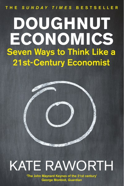 book cover for Doughnut Economics by Kate Raworth