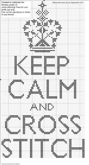 Keep Calm and Cross Stitch Pattern