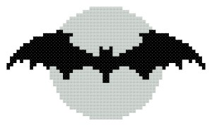 Bat and Moon Free Cross Stitch Pattern Preview