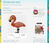 kitschy flamingo free cross stitch pattern