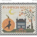 pumpkin hollow free cross stitch pattern preview