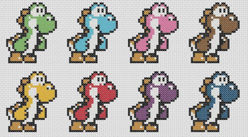 Yoshi in Colors Pattern Preview