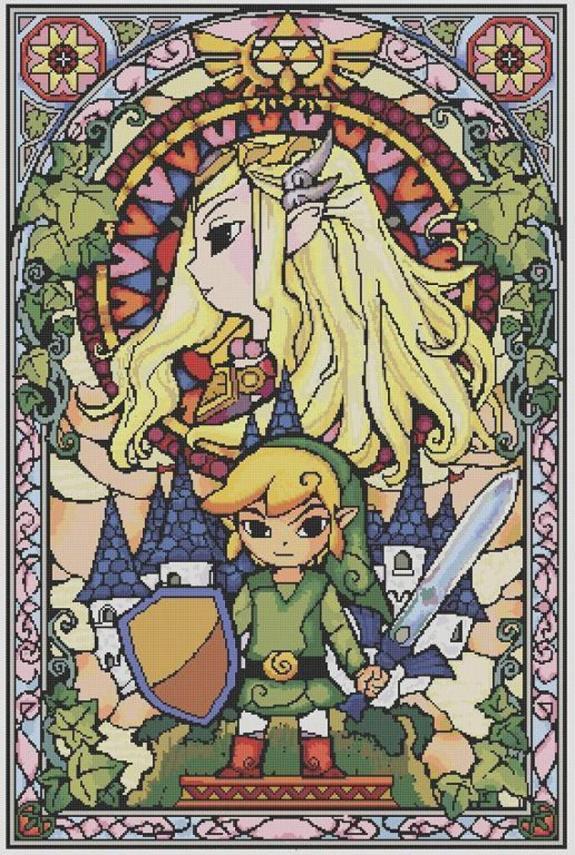 Preview of Free Legend of Zelda Cross Stitch Pattern