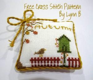 Autumn Free Cross Stitch Pattern from Lynn B
