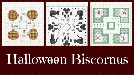 3 Halloween Biscornu Free Cross Stitch Patterns