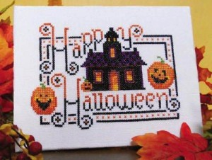 happy halloween free cross stitch pattern by Kit & Bixby
