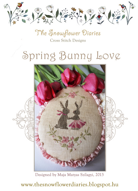 spring bunny love free cross stitch pattern from the snowflower diaries