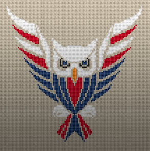 Patriotic Owl USA Free Cross Stitch Pattern from Alita Designs
