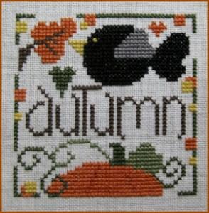 Just a Little Autumn Free Cross Stitch Pattern from San-Man Originals