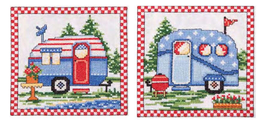 Free Camping Cross Stitch Pattern Set From Ursula Michael