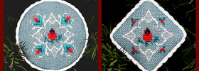 free cardinal cross stitch ornament patterns from The Victoria Sampler