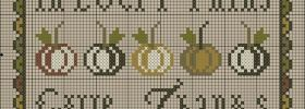 In All Things Give Thanks Free Cross Stitch Pattern from Plum Street Samplers