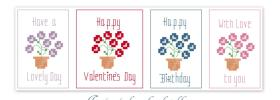 Pretty Flowers Free Cross Stitch Patterns from Stitching Fairy
