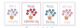 Pretty Flowers Free Cross Stitch Patterns from Stitching Fairy