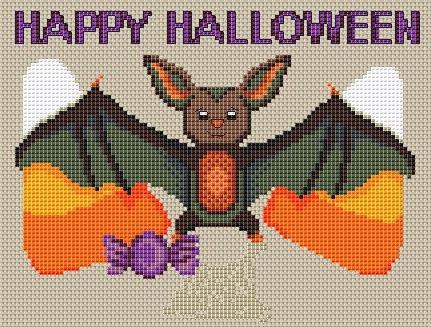 happy halloween free cross stitch pattern