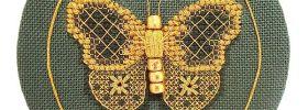 golden butterfly free cross stitch pattern