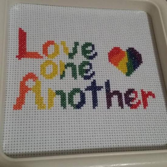 Love One Another free cross stitch pattern