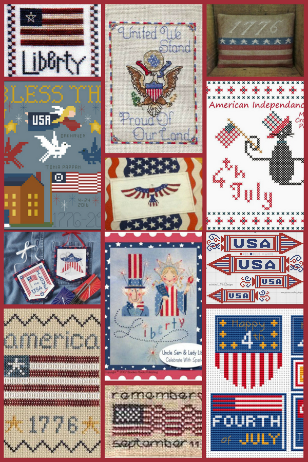 12 Free Patriotic Cross Stitch Patterns