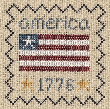 America 1776 free cross stitch pattern from The Gentle Art