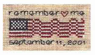 Remember Me / September 11thfree cross stitch pattern from Cynthia Zittel of The Drawn Thread