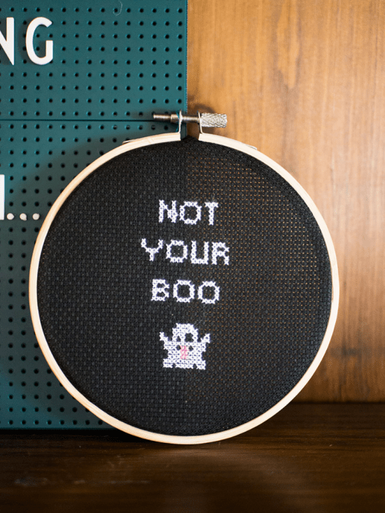 Not Your Boo free cross stitch pattern from The Homesteady