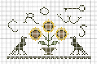 Sunflowers and Crows free cross stitch pattern