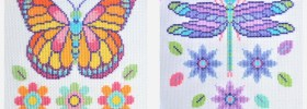 Free Butterfly and Dragonfly Cross Stitch Patterns from The World in Stitches