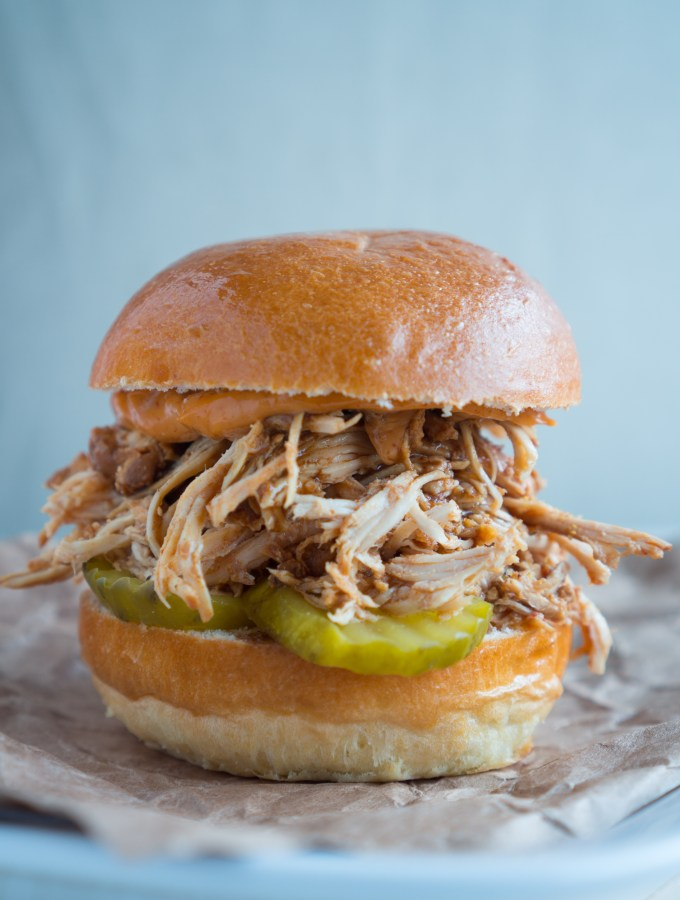 BBQ Pulled Chicken Slider Close Up