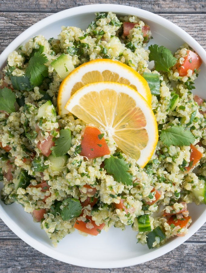 Quinoa Tabbouleh Salad Lemons