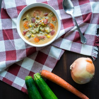 Creamy Vegetable Soup Top