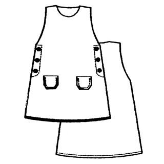 Patron N143 Robe Chasuble 4 10 Ans