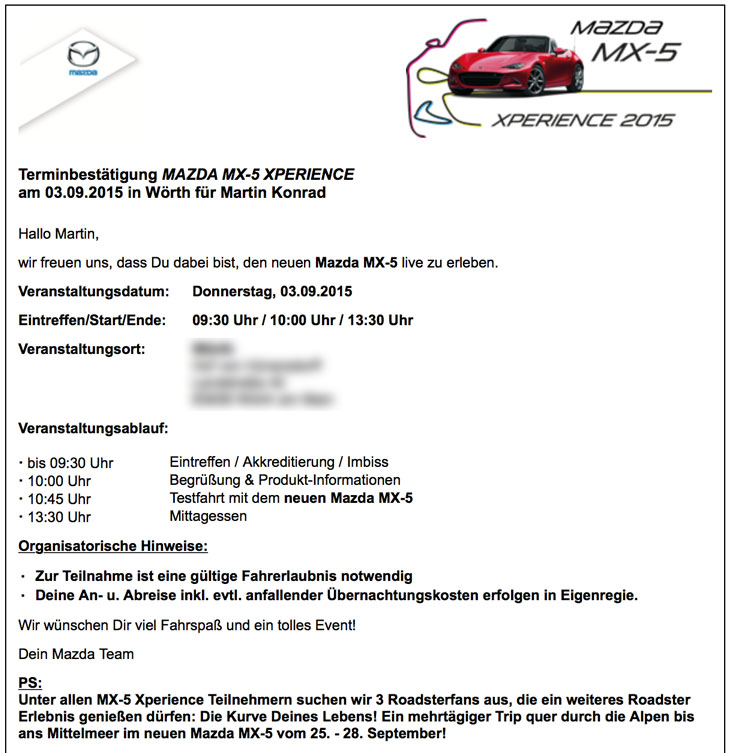 MX-5 Xperience 2015