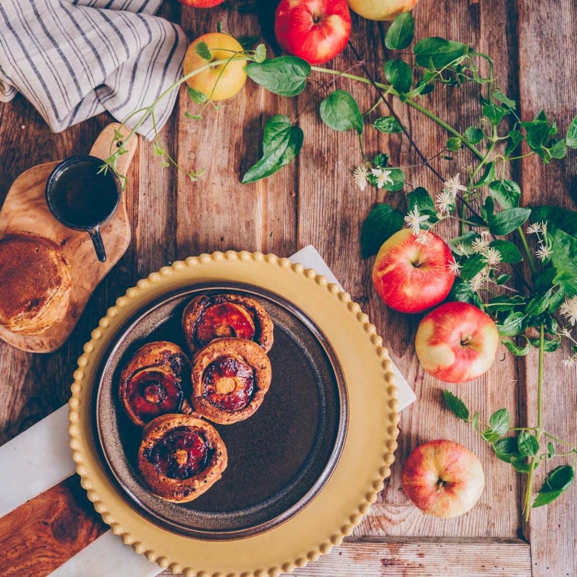 Apfelpfannkuchen vegan