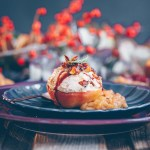 Christmas menu  Part IV – baked apple with cashew cinnamon ice cream
