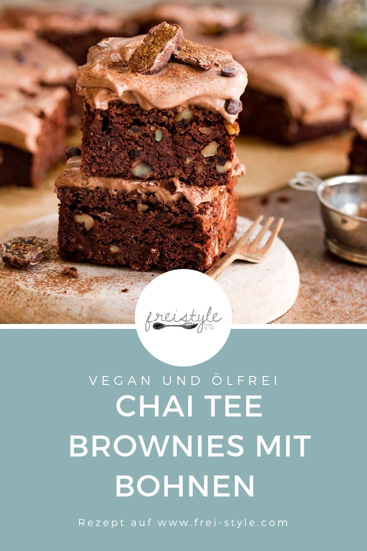 Chai Brownies mit Bohnen