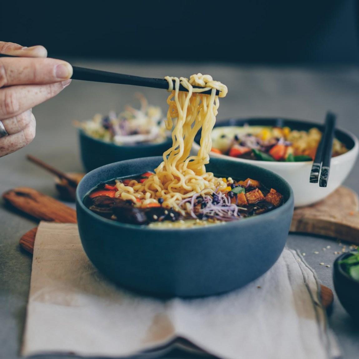 Vegane Ramen mit Tofu