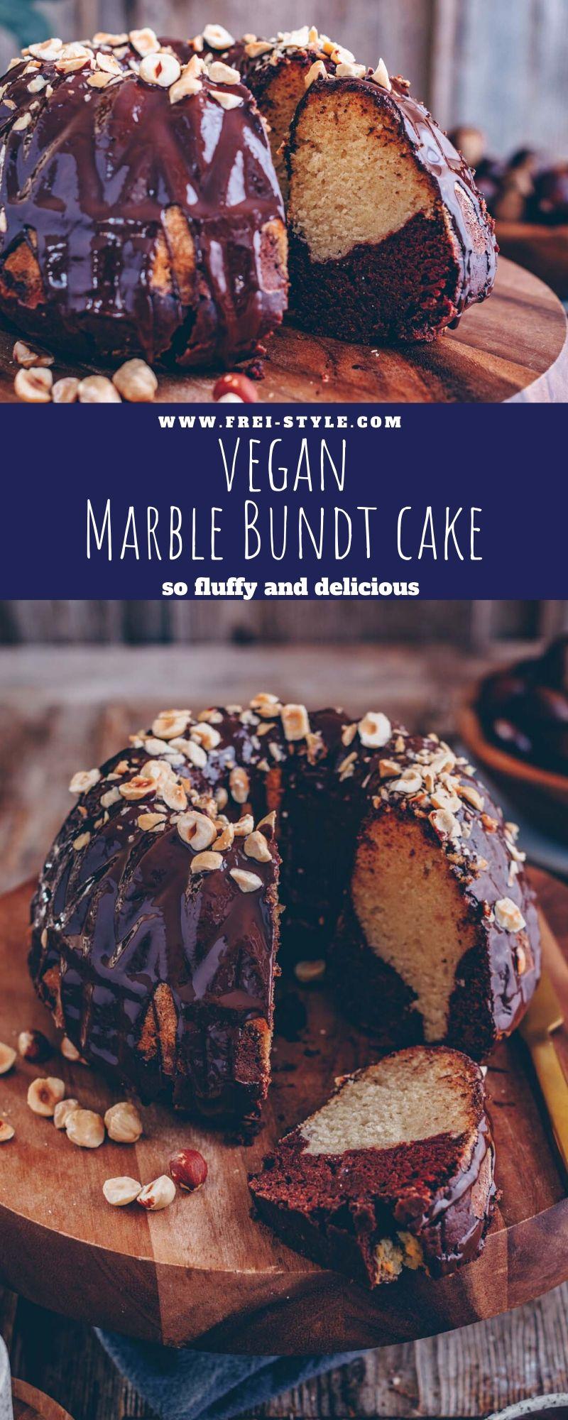 Vegan Marble Bundt cake