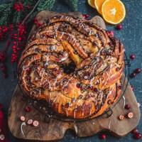Cranberry Orange yeast bun